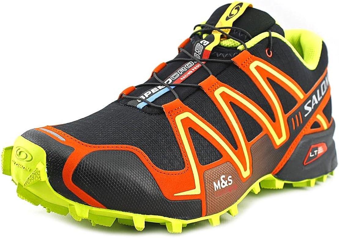 SALOMON Speedcross 3 Zapatilla de Trail Running Caballero, Negro/Naranja, 44 2/3: Amazon.es: Zapatos y complementos