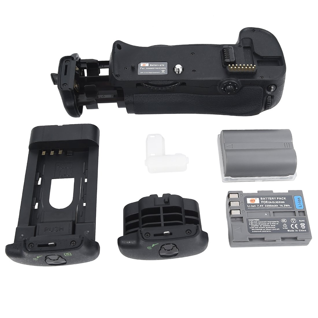 DSTE Pro MB-D10 Vertical Battery Grip + 2x EN-EL3E for Nikon D300 D300S D700 D900 SLR Digital Camera