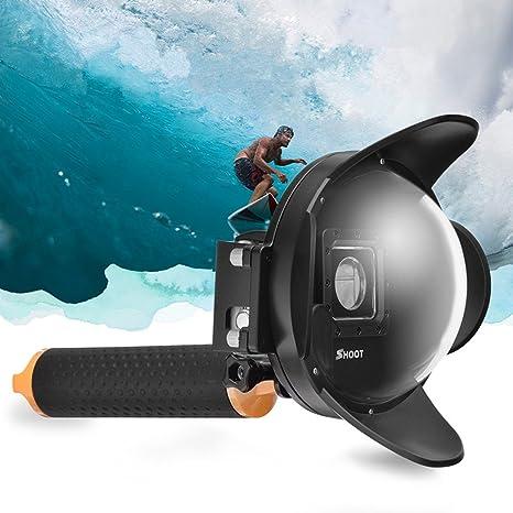 vicdozia 4 pulgadas Parasol impermeable puerto de cúpula de buceo lente fotografía submarina para Gopro Hero