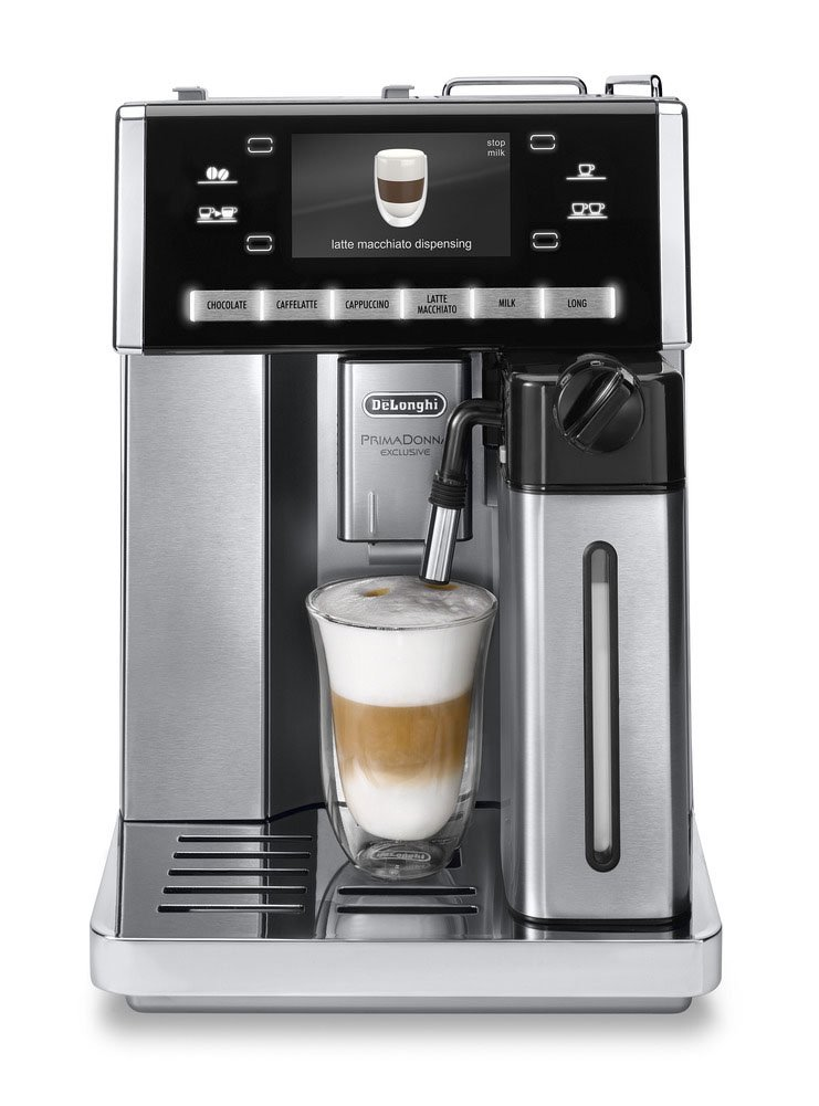 Stainless Steel DeLonghi ESAM 6900.M Delonghi ESAM6900 Prima Donna Exclusive Fully Automatic Espresso Maker with Lattecrema System