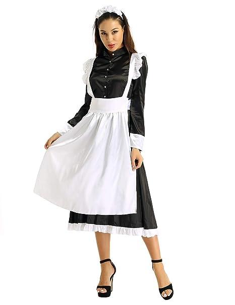 MSemis Disfraz Criada Francesa Cosplay Lolita para Mujer ...