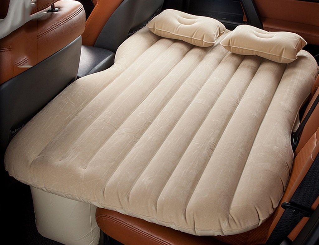 ユニバーサルカークッションキャンプエアベッドキッズカーインフレータブルマットレス旅行ベッドカーベッド睡眠アーチファクトカーショックベッド カーセックスベッド ( 色 : ベージュ ) B07CL3S8D3 ベージュ ベージュ