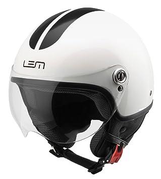 Casco Lem- Roger Go Fast White and Black (XL)