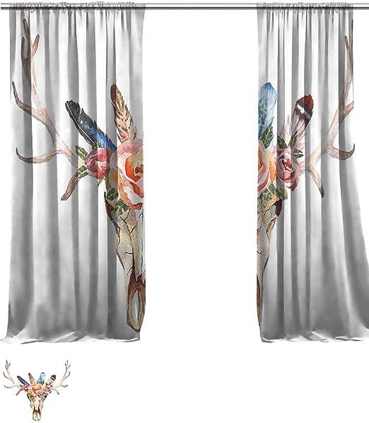 Vanfanhome - Cortina de lino transparente grande para decorar ...