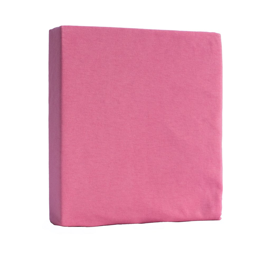 Jersey 100/% Cotton Fitted Sheet for Toddler Baby Cot Bed or Crib Mattress Cover 140 x 70 cm Cot Bed, Pink