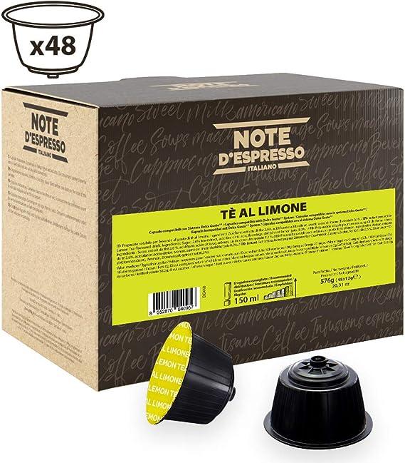 Note DEspresso Cápsulas de Té al Limón compatibles con cafeteras ...