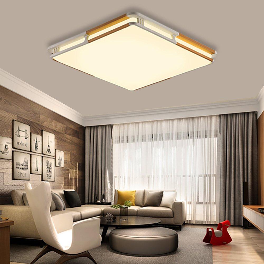 LED Flush Mount Ceiling Light, KingSo 11.8'' Ceiling Lamp 24W (200W Incandescent Equivalent) 3000K Warm White 2400Lumens Square Ceiling Lamp for Kitchen Living Room Hotel