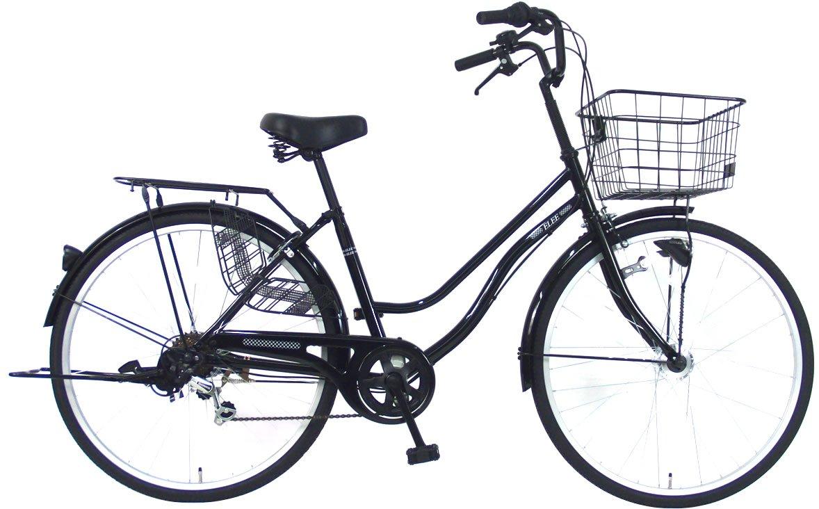C.Dream(シードリーム) エリーオートライト EL66-H 26インチ自転車 シティサイクル ブラック 6段変速 100%組立済み発送 B078TVK22X