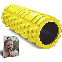 FFEXS Foam Roller Grid Massage Roller met Digitaal Trainingsboek - Perfect voor Trigger Point Massage van Rug Benen…