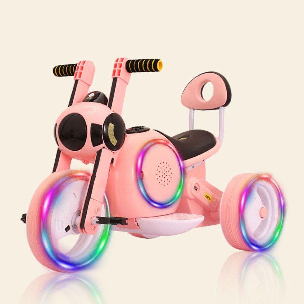 QXMEI Kinder Elektrische Dreirad 1-3-5-6 Wiederaufladbare Jungen Und Mädchen Können Menschen Spielzeug Elektroauto Sitzen,Orange3 Orange2