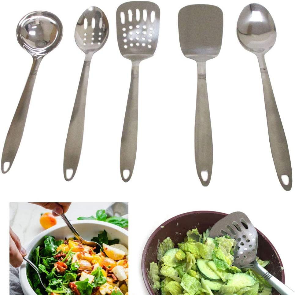 Stainless Steel Indian Kitchen Cooking Serving Ladle Utensil Free Shipping