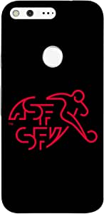 ColorKing Football Switzerland 07 Black shell case cover for Google Pixel XL