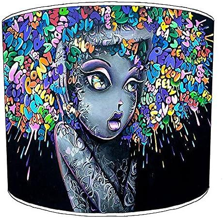 Premier Abat-Jour Table Blue Grafitti Abat-Jours 20,3 cm