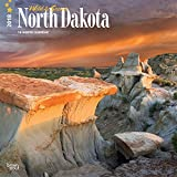 North Dakota, Wild & Scenic 2018 12 x 12 Inch Monthly Square Wall Calendar, USA United States of America Midwest State Nature (English, French and Spanish Edition)