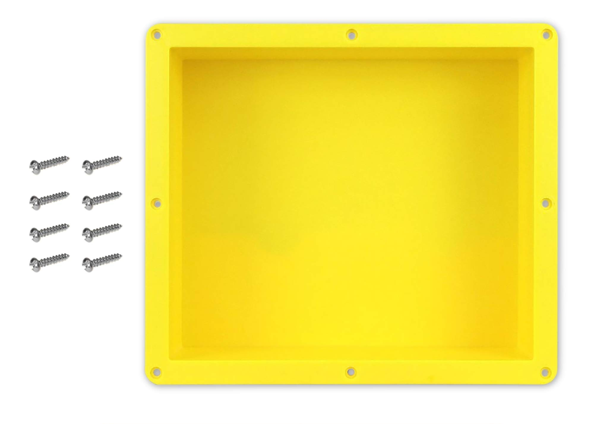 16'' x 14'' Single Shelf Recessed Shower Niche with Mounting Screws included, Mounts Flush with 1/2'' Backerboard, Ready to Tile, Easy to Install and Waterproof, by Novalinea