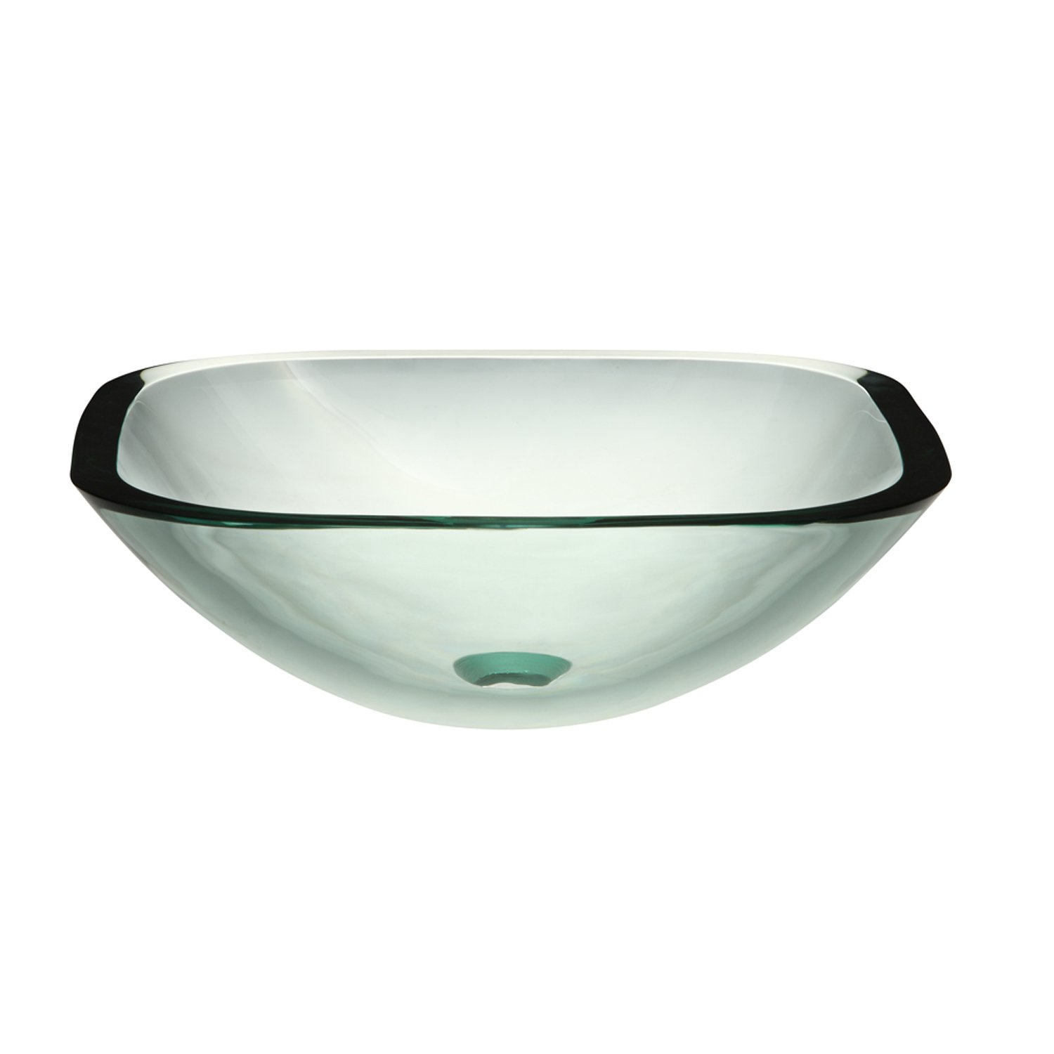 Bathroom available in 5 finishes vessel bathroom sinks msrp 425 - Decolav 1139t Tcr Translucence 19mm Square Glass Vessel Bathroom Sink Transparent Crystal Amazon Com