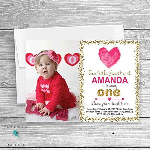 Amazon Com Set Of 10 Valentines Birthday Invitation Heart Birthday