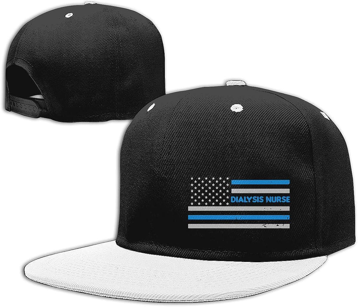 NMG-01 Women Men Plain Cap Dialysis Nurse American Flag Printed Hip Hop Baseball Caps