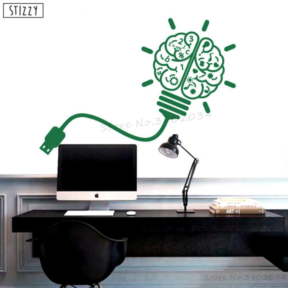 zhuziji Tatuajes de Pared Diseño de Cerebro USB Moderno Pegatinas ...