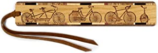 product image for Bicycles Engraved Wooden Bookmark with Suede Tassel - Search B072KT7CDG for Personalized Version