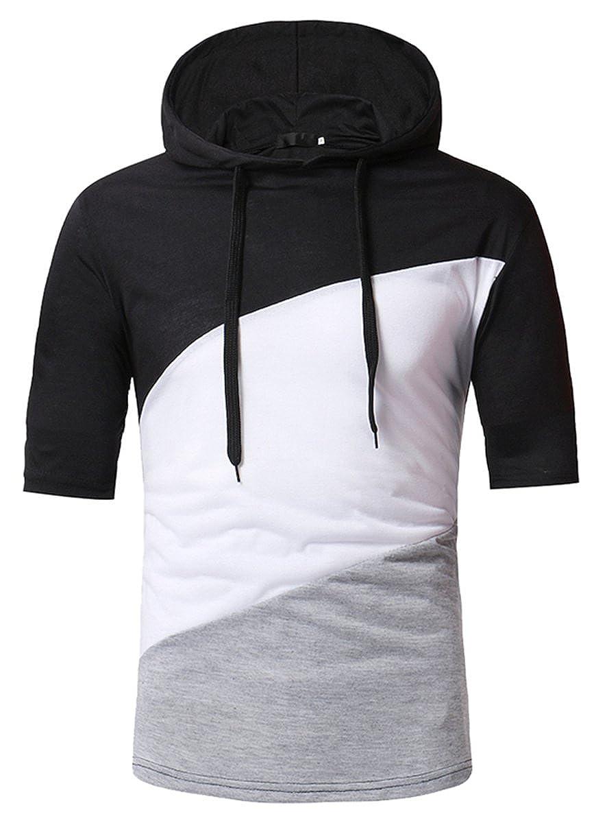 Qzhduao Mens Colorblock Hoodie T Shirt At Amazon Mens Clothing Store