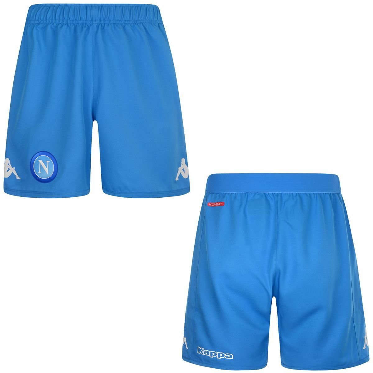 2017-2018 Napoli Kappa Home Shorts (Sky Blue) B0748GGGV9 XXL Adults|Blue Blue XXL Adults