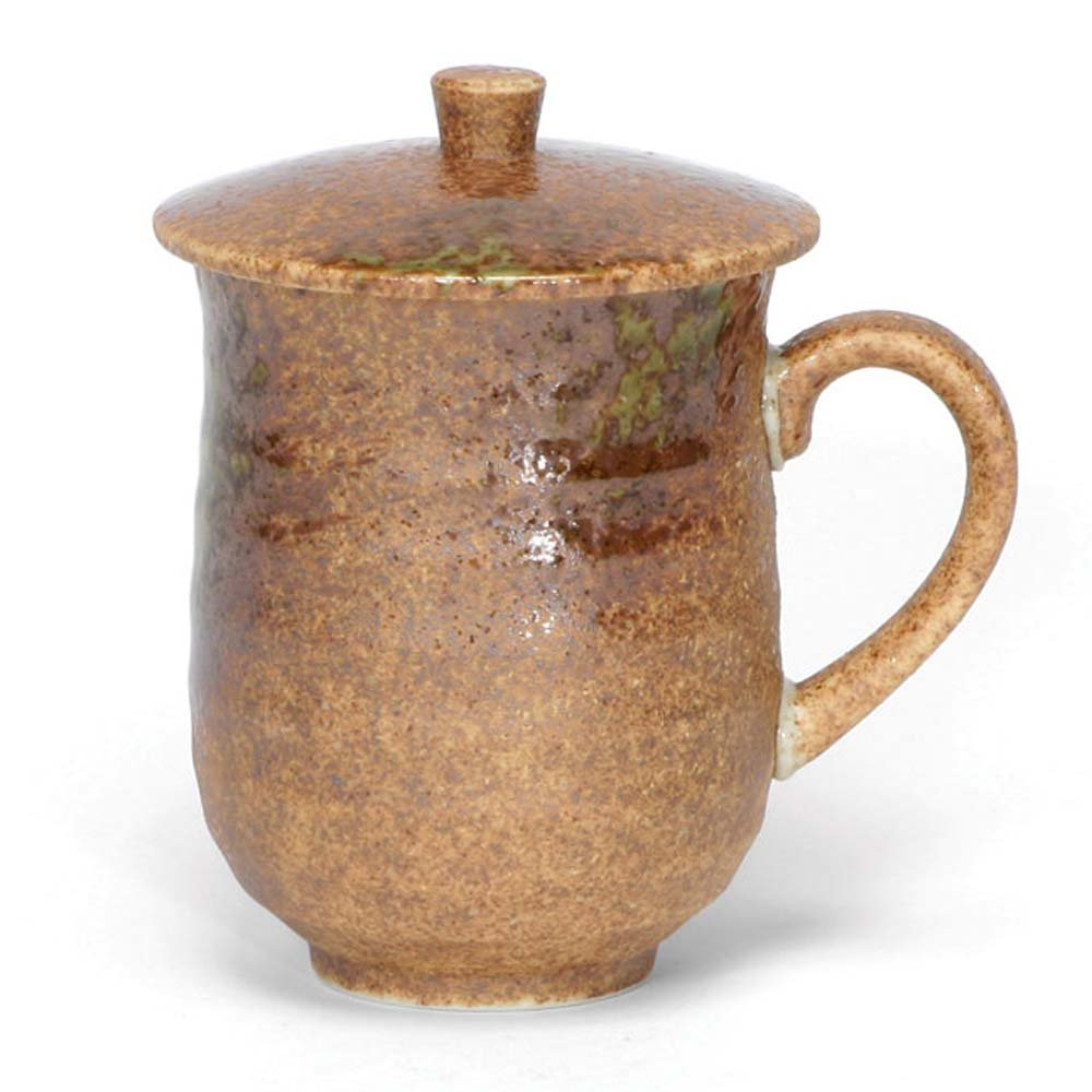 Japanese Mug with Lid Iga Oribe