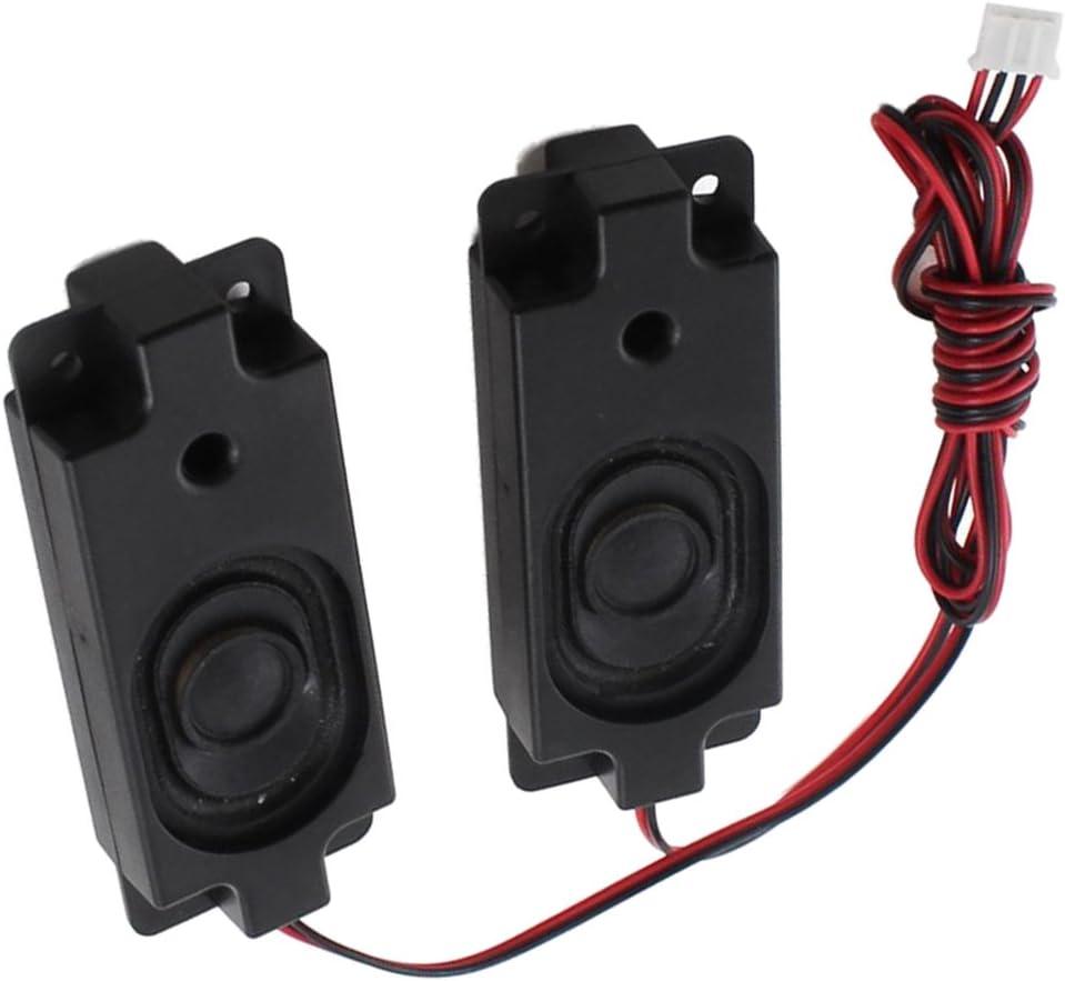 SODIAL 1 Paire 4 Broches Balance Plug Rectangle Aimant Haut-Parleur Amplificateur 3W 8 Ohm