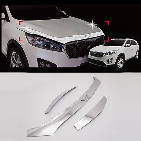 Automotiveapple genuino emblema cromado capucha escudo protector para 2016 2017 Kia Sorento