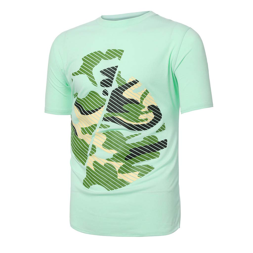 Letter Button T-Shirt Fashion Mens Personality Short Sleeve Blouse Tops