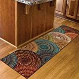 "Orian Rugs Circles Gomaz Multi Runner Rug (1'10"" x 7'5″) For Sale"