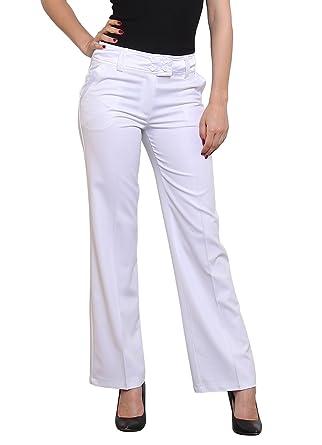 Noir Triple XXX - Pantalon - Droit - Femme Blanc blanc - Blanc - Étiquette  38 fe856edbe26f
