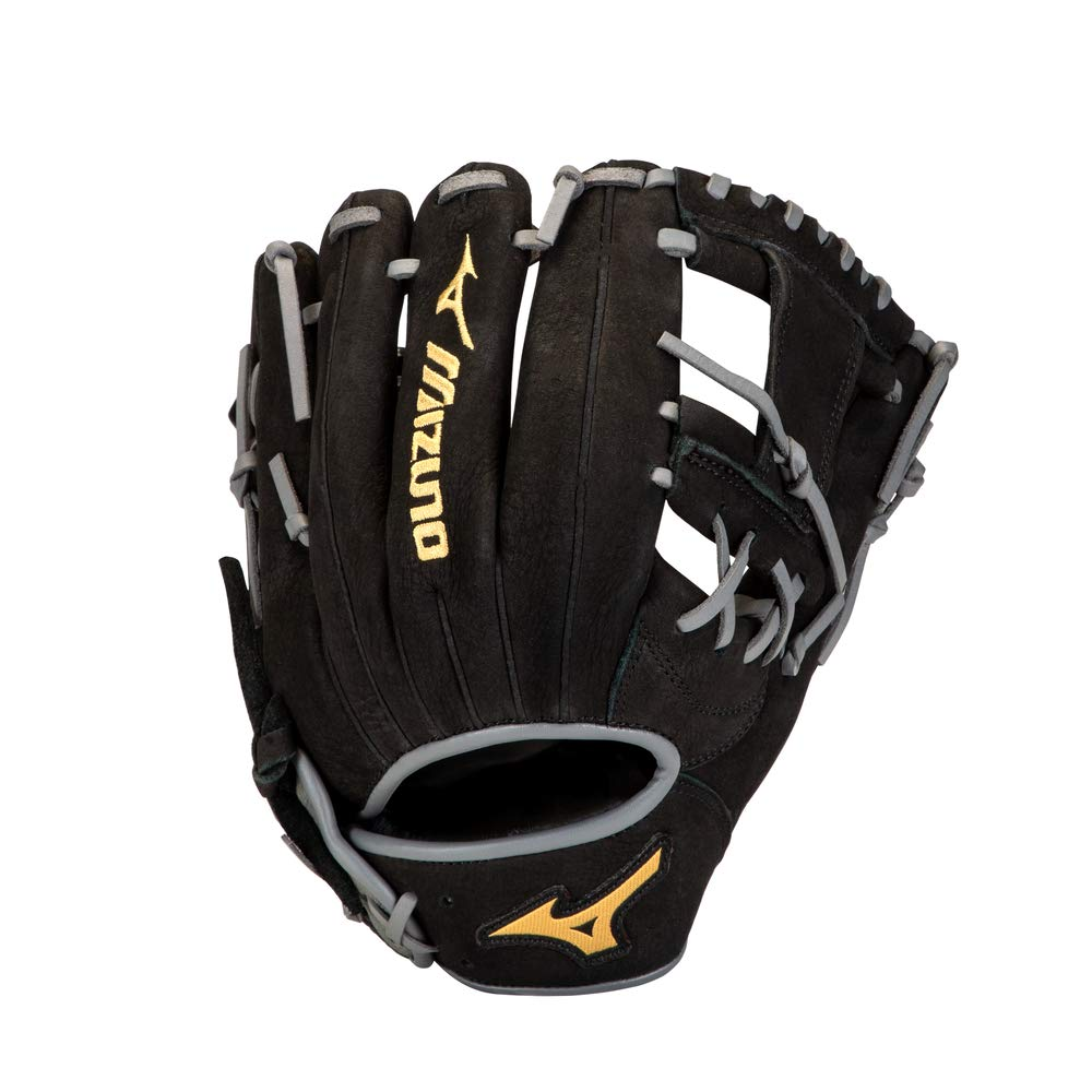 Mizuno 312851.R993.07.1050 Prospect Select Series Infield Baseball Glove 10.5'' Right Hand: Black-Smoke (R993) 10 1/2 (1050) by Mizuno