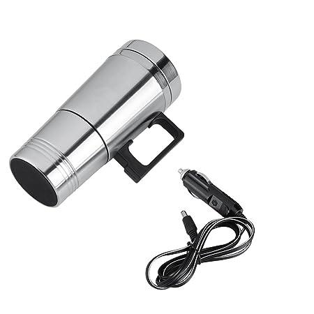 GLOGLOW Taza de la calefacción del Coche, 12V / 24V 300ml Tazas de Agua del té del café eléctrico del Coche Tazas de la Botella del Termo del Viaje del ...