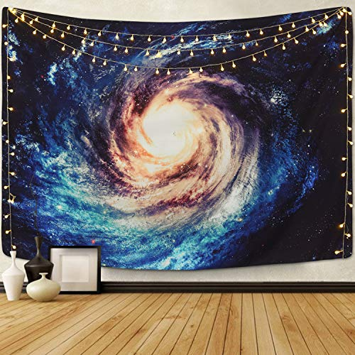 Sunm Boutique Tapestry Wall Hanging Starry Sky Tapestry Galaxy Night Sky Full Stars Wall Tapestry Forest Starry Mandala Tapestry Popular Tapestry Psychedelic Wall Art (L59.1X82.7, 14#Milky Way)