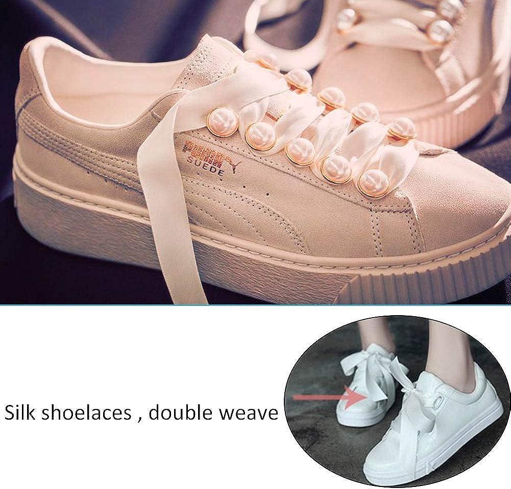 INTVN 8 Paar Seidenband Schuhe Satin Flache Schn/ürsenkel Seidenband Flacher Shoestring f/ür Sportschuhe Outdoorschuh 16 pcs Laufschuhe Bergschuh