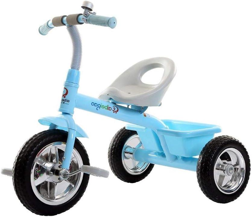 xy Triciclos Triciclo For Niños, Portátil Campana De La Bicicleta Retro Exterior For Niños De 1-3-5 Años De Edad Canasta De Almacenamiento De 4 Colores Se Puede Utilizar como Regalos (Color : Blue)