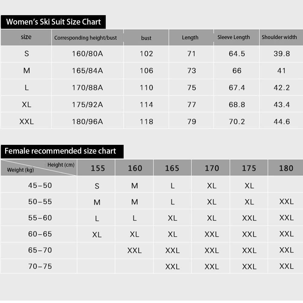 Yzibei Yzibei Yzibei Giacca da Sci Tuta da Sci Femminile Autunno e Inverno Coppia Spessa Inverno Frossodo Impermeabile Doppia Giacca da Sci da Sci Tuta da Sci Antivento e Impermeabile (Coloreee   C4, Dimensione   S)B07MHGN231Medium C2 | In Linea Outlet Store  | Prezzo d35d90