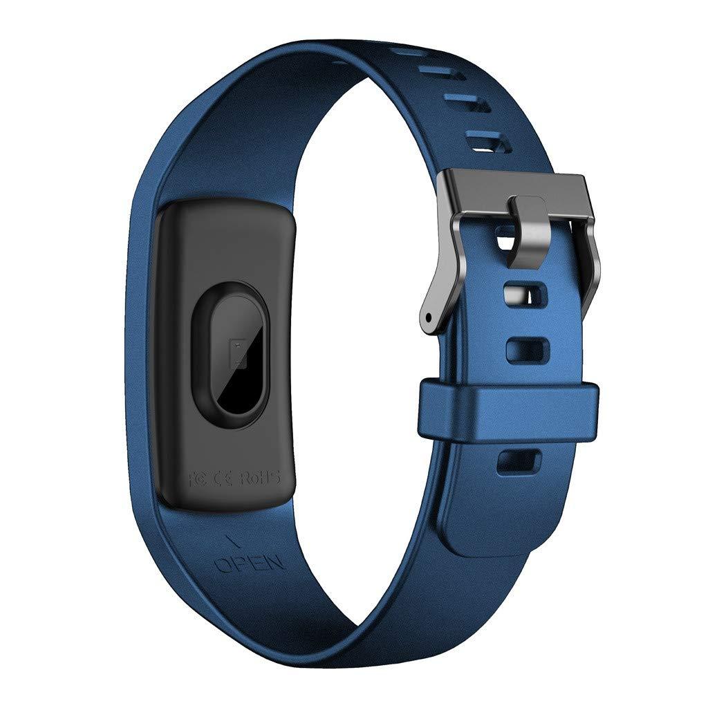 Yivise Reloj Inteligente Deportes Ejercicio Físico Rastreador de Ritmo Cardíaco Presión Arterial Cronómetro Pulsera Relojes(B): Amazon.es: Relojes