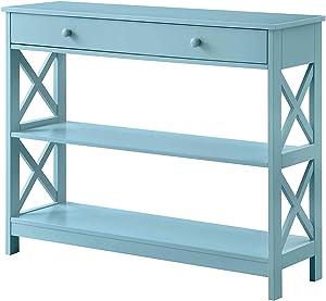Convenience Concepts Oxford 1 Drawer Console Table, Sea Foam