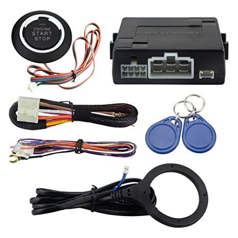 Amazon Com Easyguard Ec110 Rfid Car Alarm Kit With Push Start Stop