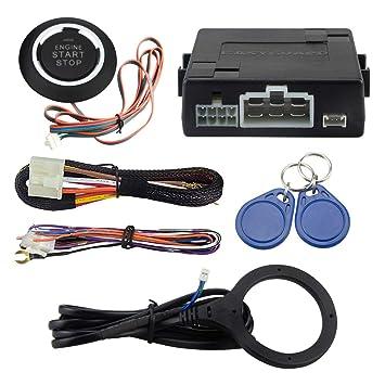 Easyguard RFID Kit de alarma de coche con Push Start Stop ...