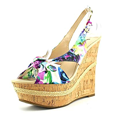 0bcd7323334 GUESS Delilan Women US 8.5 Multi Color Wedge Heel