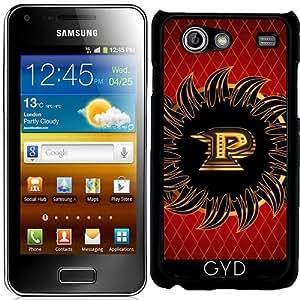 Funda para Samsung Galaxy S Advance (i9070) - Monograma Del Diseño Del P by nicky2342
