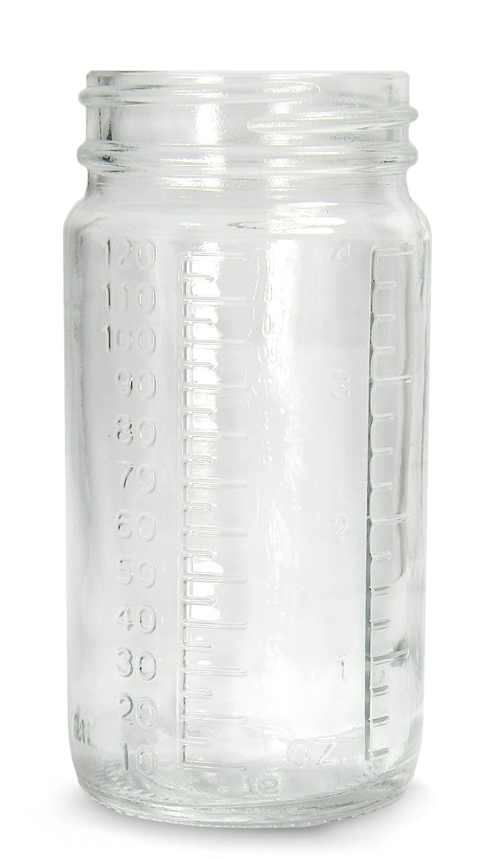 Qorpak Glass Graduated Medium Bottle Beaker with Neck Finish, Clear