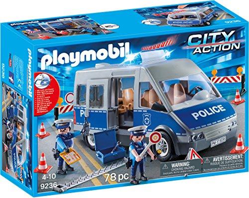 (PLAYMOBIL® Policemen with Van Building Set)