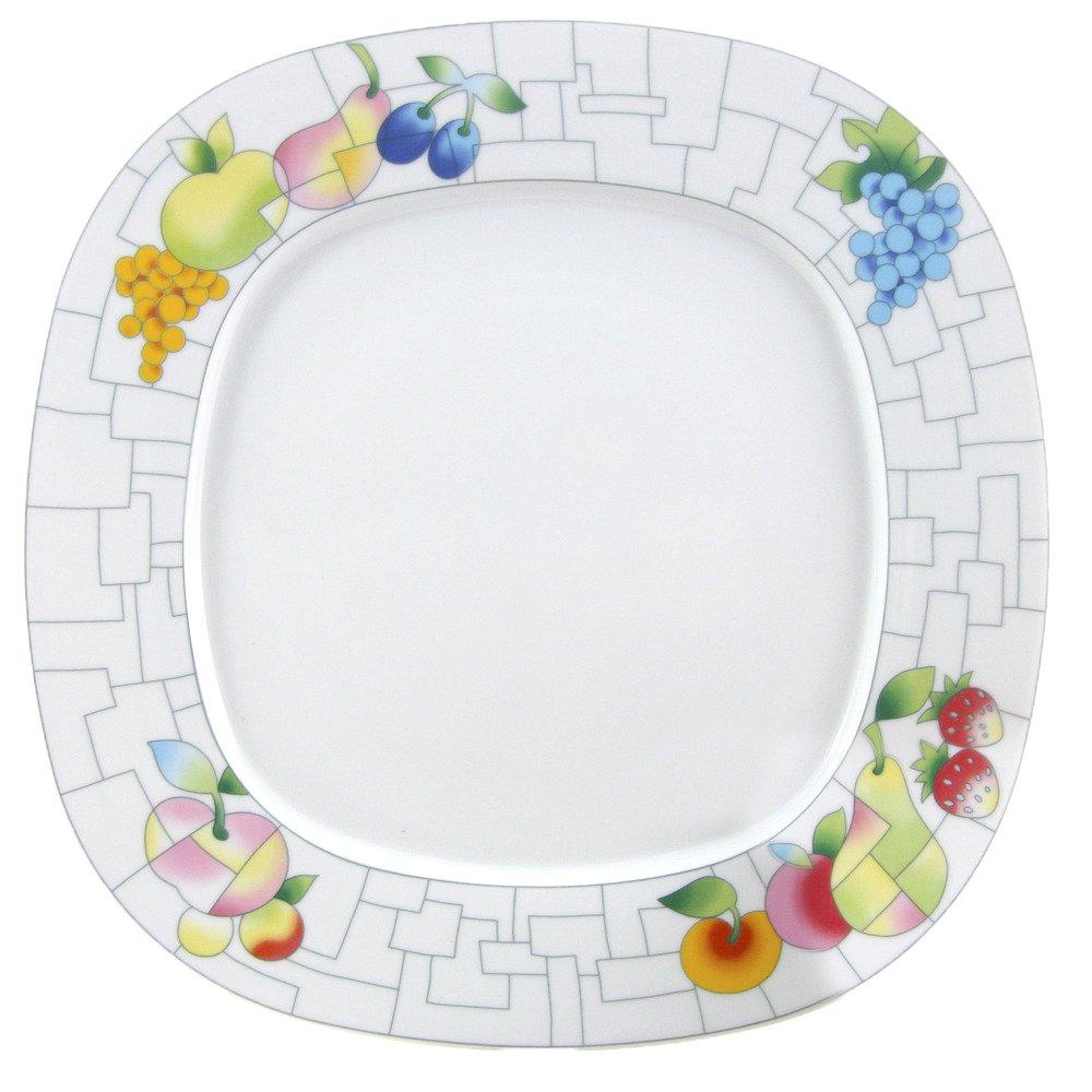 THUN Leon Puzzle Piatto Dessert, Porcellana, Bianco, 20 x 20 x 2 cm 20x 20x 2cm 1151091200
