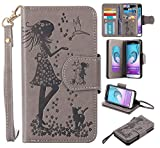 Galaxy J3 Case,XYX PU Leather Wallet Case for Samsung Galaxy J3 / Express Prime/Amp Prime,Gray