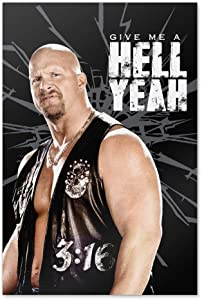 GRAPHICS & MORE WWE Stone Cold Steve Austin Hell Yeah Home Business Office Sign