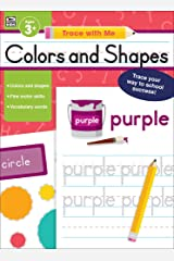 Carson Dellosa | Trace with Me: Colors and Shapes Handwriting Workbook | Toddler–Kindergarten, 128pgs Paperback